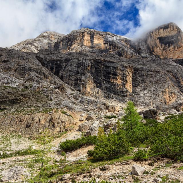 """Dolomiti - Cavallo mount"" stock image"