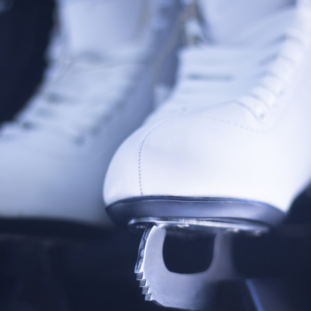 """Ice skates in retail store"" stock image"