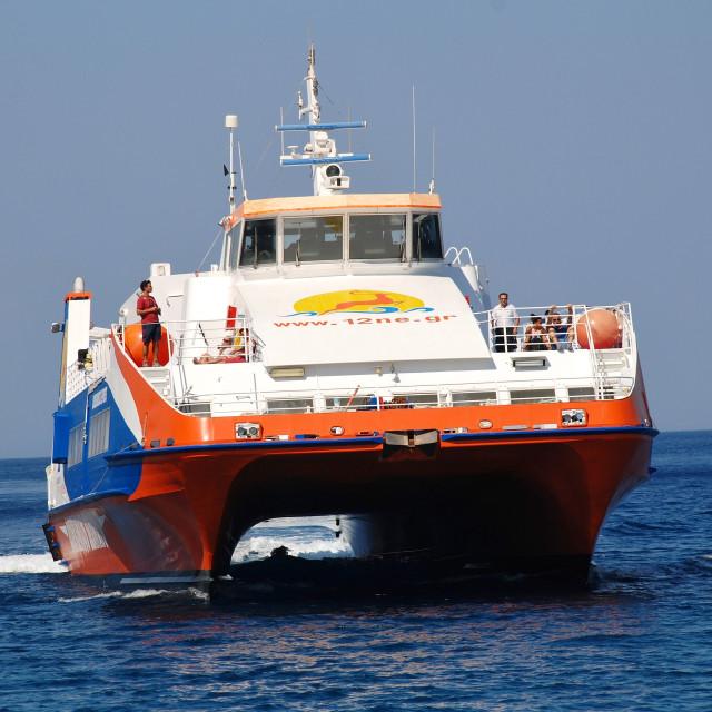 """Tilos ferry boat, Greece"" stock image"