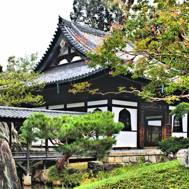 """Hall in Kōdai-ji grounds Kyoto"" stock image"