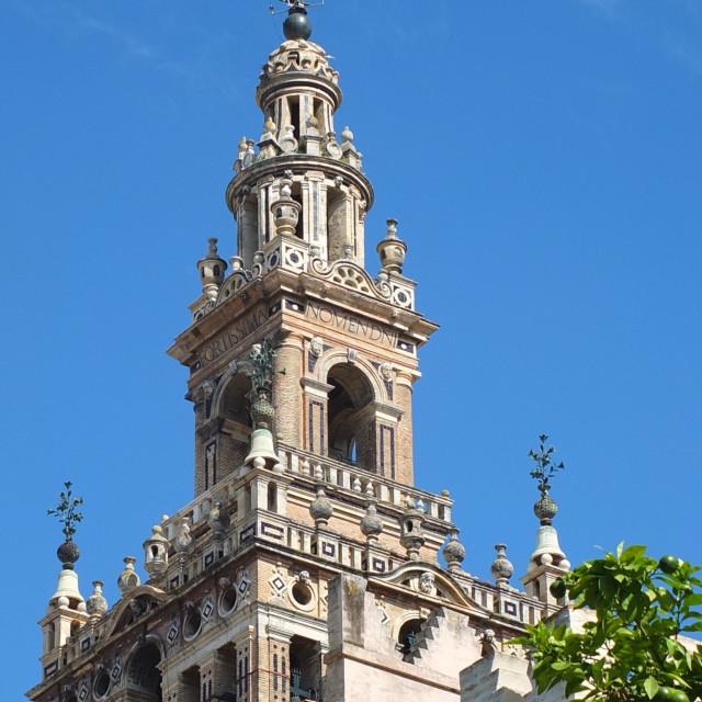 """Giralda Detail, Sevilla"" stock image"