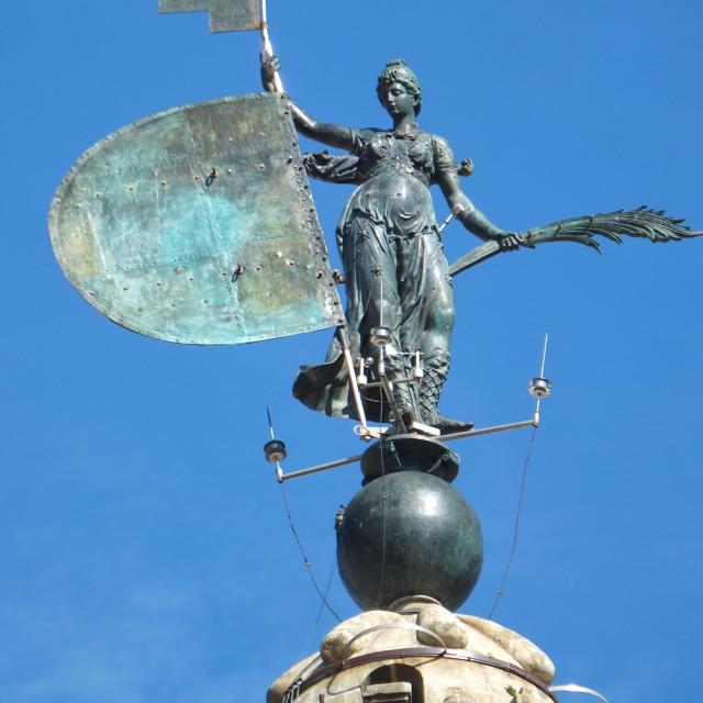 """The Giralda Weather Vane, Sevilla"" stock image"