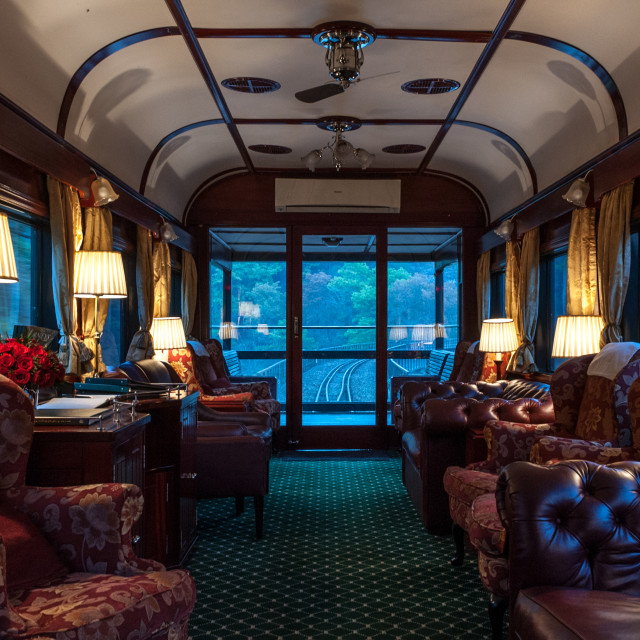 """Rovos Luxury train in Africa"" stock image"