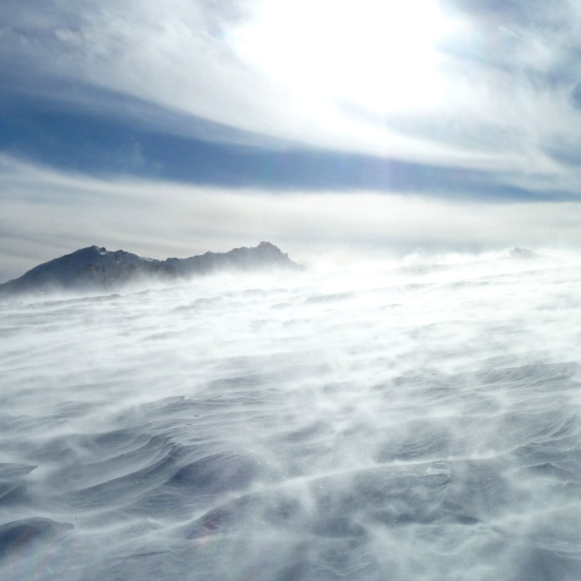 """""""Alpine Winds"""" stock image"""