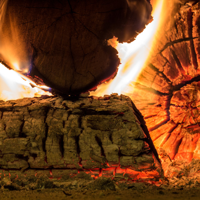 """""""Fire and ember"""" stock image"""