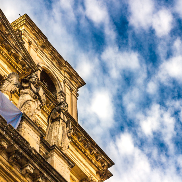 """""""View of baroque church"""" stock image"""