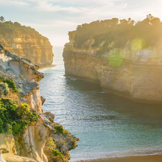 """Loch Ard Gorge Shipwreck Beach, Great Ocean Road, Australia"" stock image"