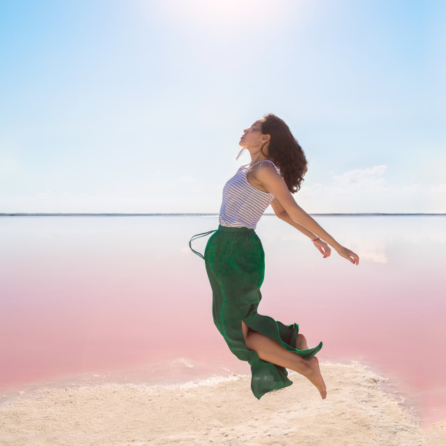 """Las Coloradas, Yucatan"" stock image"