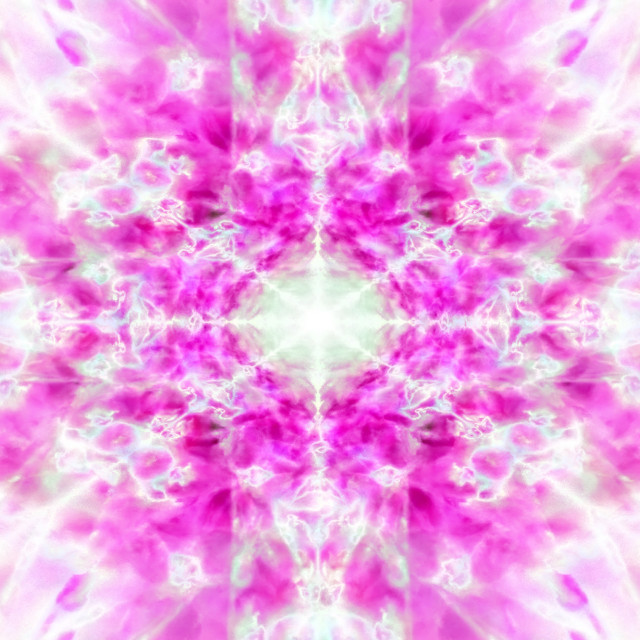 """Light pink kaleidoscope pattern"" stock image"