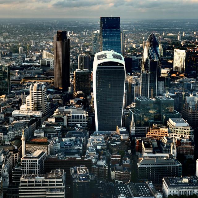 """""""London Skyline at Dusk"""" stock image"""