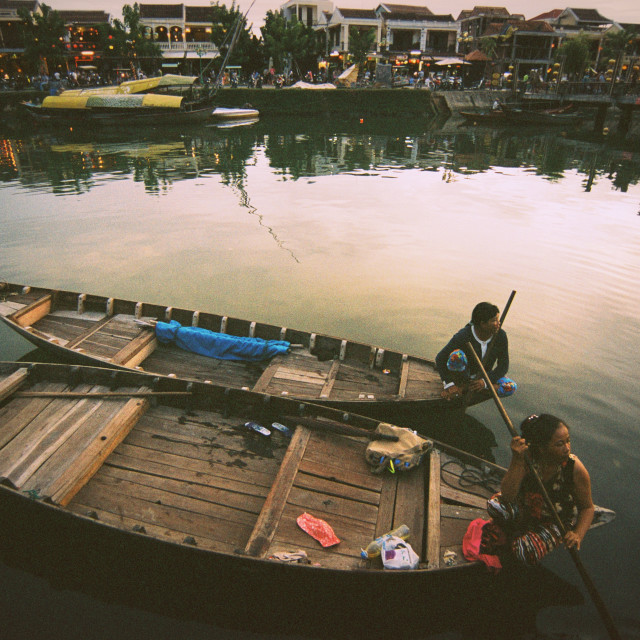 """""""Waiting for guest - Hoi An"""" stock image"""