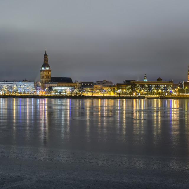 """""""Old Riga In Winter"""" stock image"""