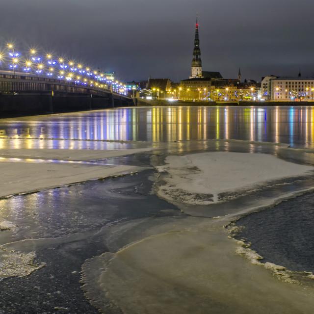 """Frozen Riga"" stock image"