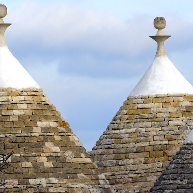 """Traditional ""Trulli"" houses of the Apulia region"" stock image"