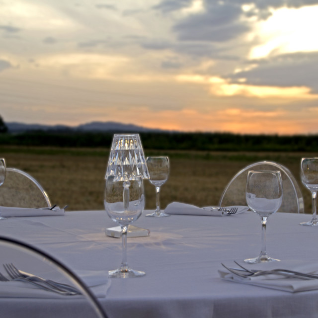 """Tuscany dinner"" stock image"