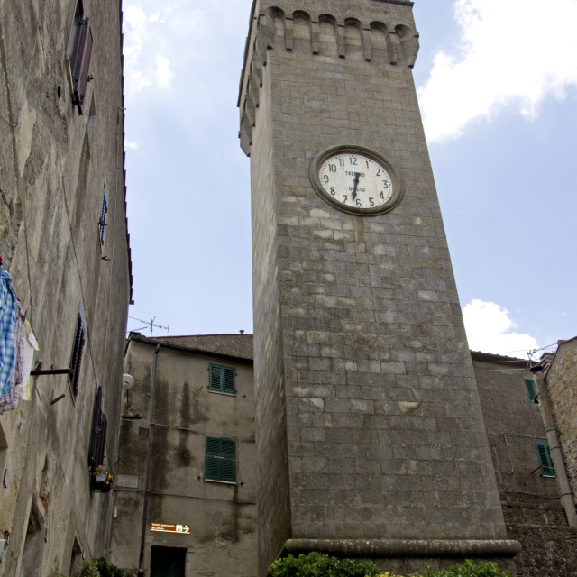 """Roccastrada, Tuscany village"" stock image"