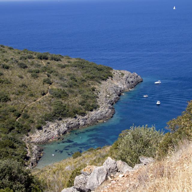 """""""Italian sea scenery, Tuscany coast, Argentario"""" stock image"""