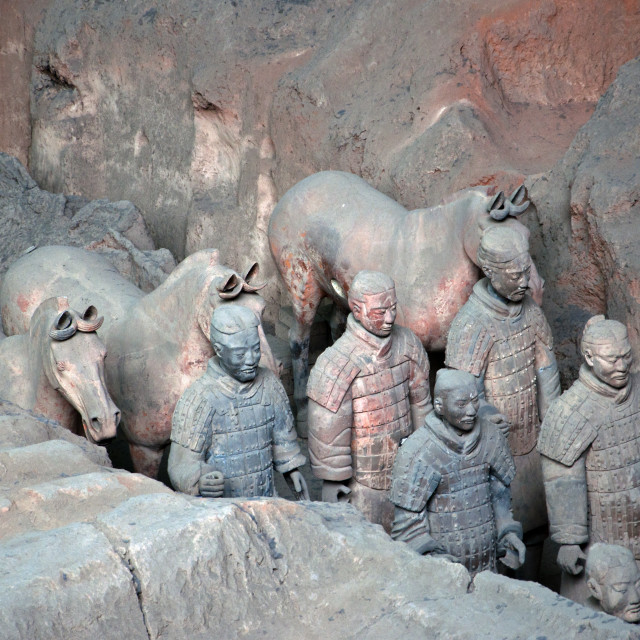 """Terracotta Warriors, Xi'an"" stock image"