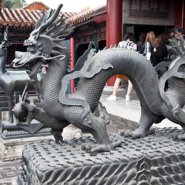 """Sculptures in The Forbidden City"" stock image"
