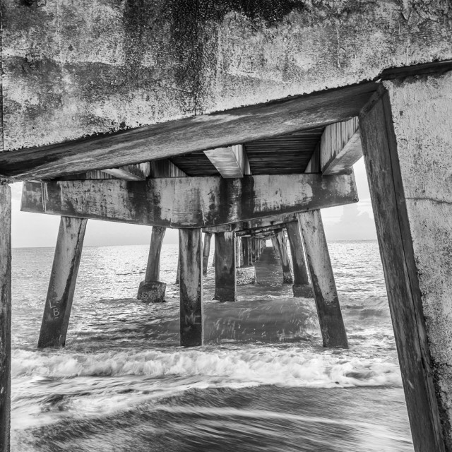 """""""Anglins Fishing Pier, Ft. Lauderdale"""" stock image"""