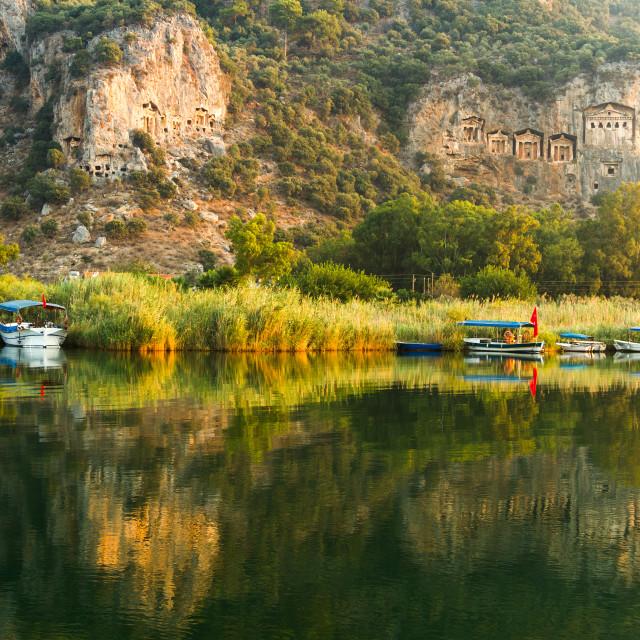 """""""Kaunian rock tombs from Dalyan, Ortaca, Turkey"""" stock image"""