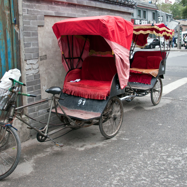 """rickshaws"" stock image"