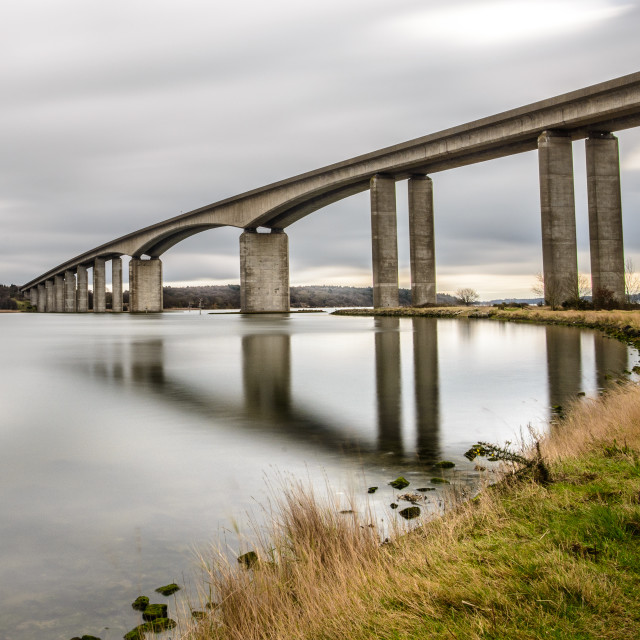 """Orwell Bridge Suffolk 2017 1"" stock image"