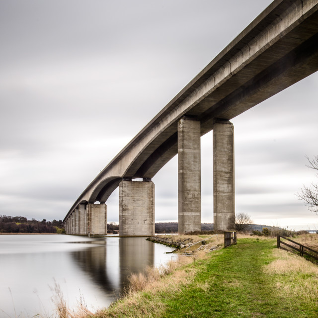 """Orwell Bridge Suffolk February 2017"" stock image"