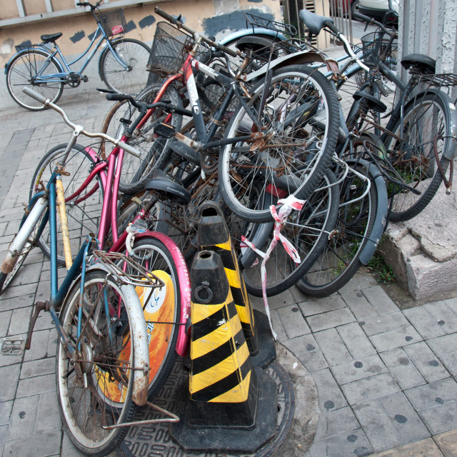 """Beijing bikes"" stock image"