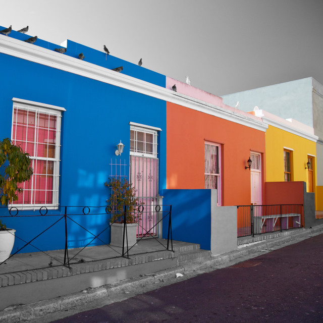 """Bo Kaap, district in Cape Town, South Africa. Very famous with the tourist's"" stock image"