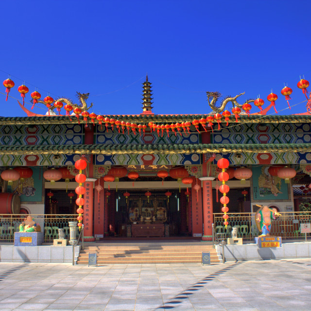 """Buddhist Temple in Kota Kinabalu"" stock image"