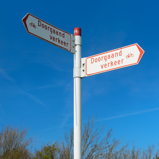 """""""Typical Dutch sign board"""" stock image"""