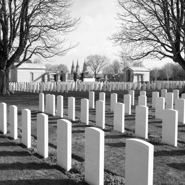 """British Millitary Cemetery Bayeaux"" stock image"