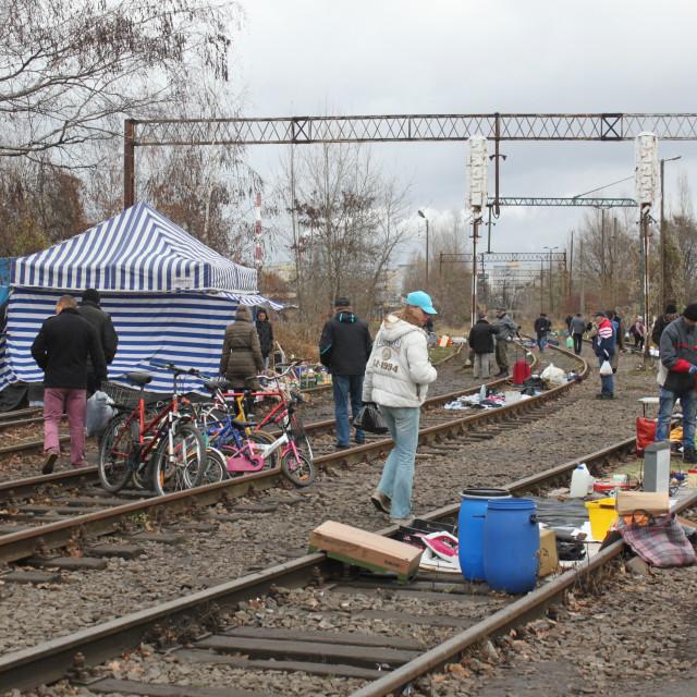"""Wrocław Sunday Flea Market"" stock image"