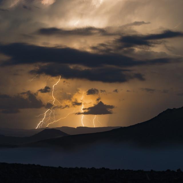 """Electric Storm / Tormenta eléctrica"" stock image"