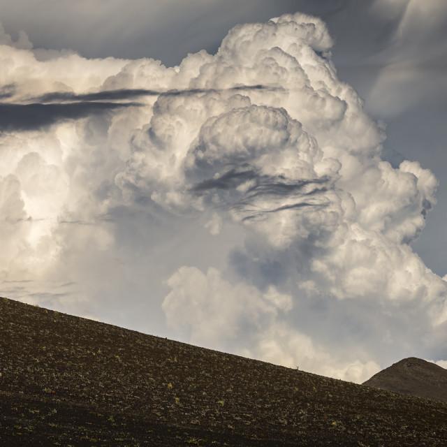 """Nubes de Tormenta eléctrica / clouds"" stock image"