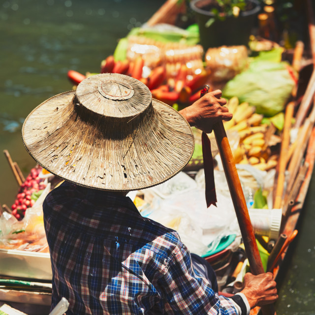 """Floating market in Bangkok"" stock image"