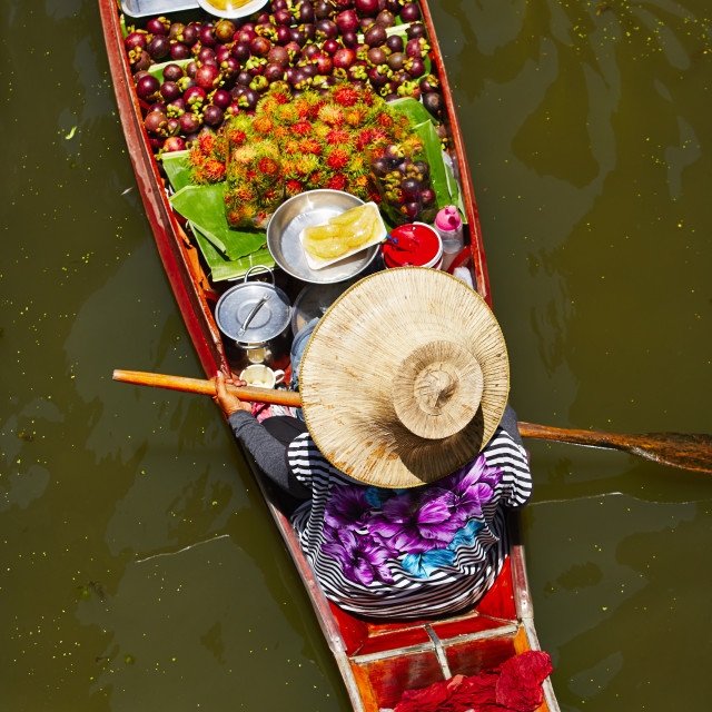 """Floating market"" stock image"