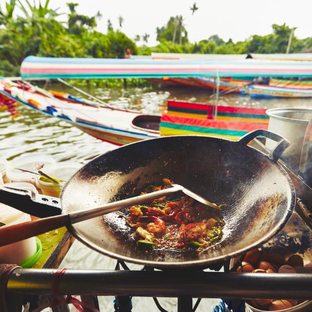 """Floating market in Bangkok"" stock image"