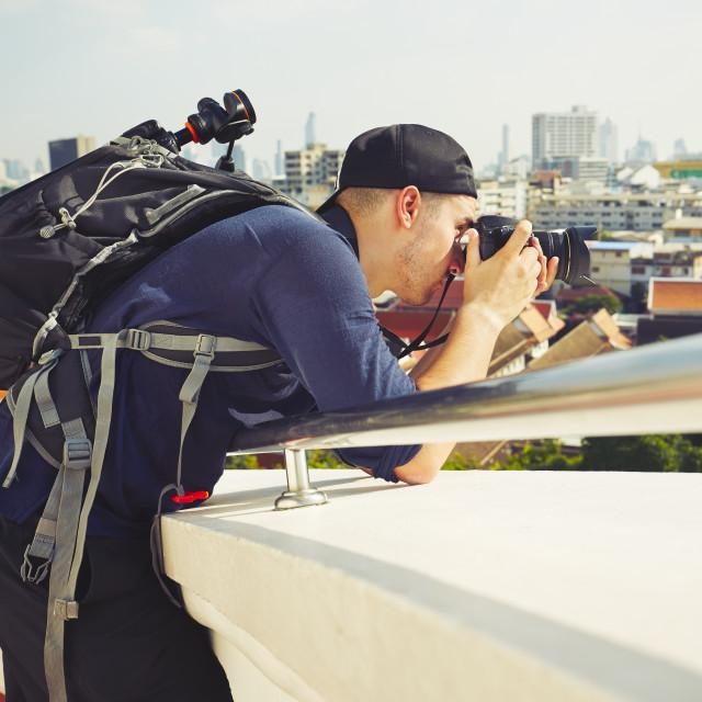 """Photographer taking photos"" stock image"