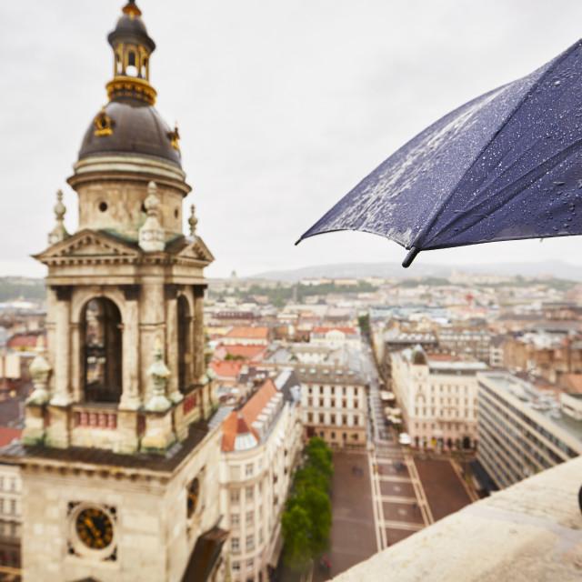 """Rain in the city"" stock image"