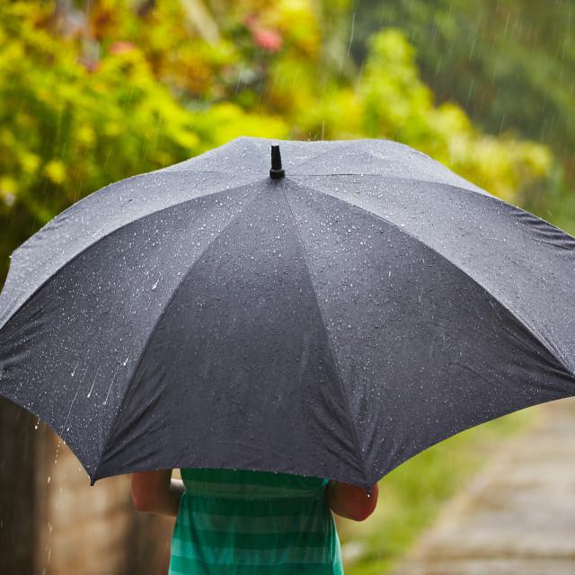"""Heavy rain"" stock image"