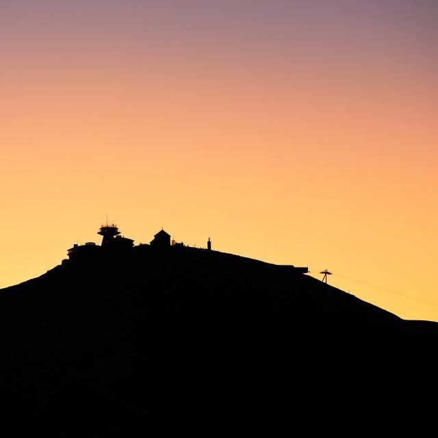 """""""Amazing sunrise in the mounatins"""" stock image"""