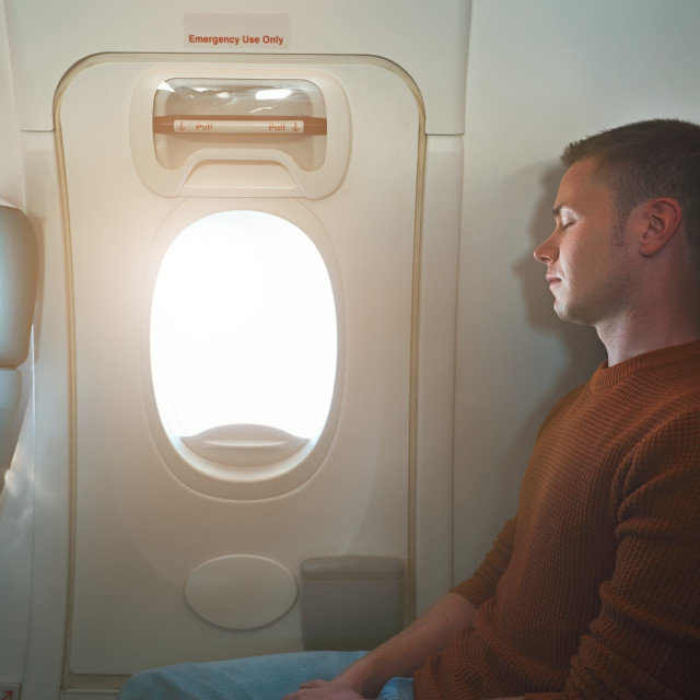 """Comfortable traveling by airplane"" stock image"