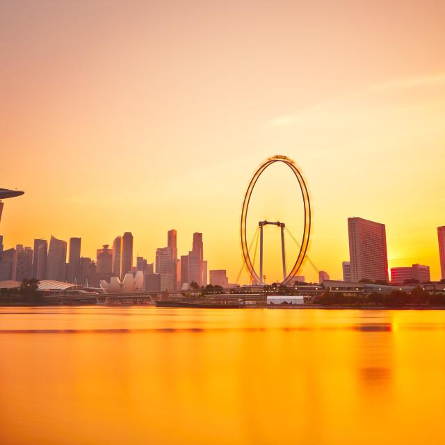 """Sunset in Singapore"" stock image"