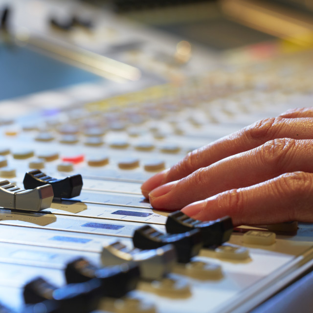 """Mixing Board"" stock image"