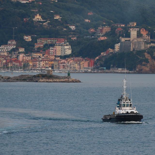 """Tugs of La Spezia"" stock image"