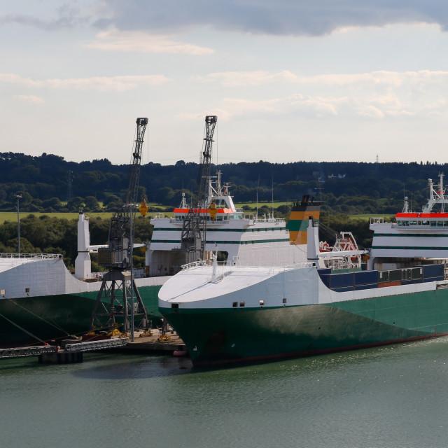 """""""Ro-Ro Ships Loading"""" stock image"""