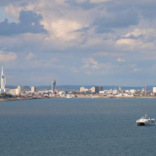 """Portsmouth from the Sea"" stock image"