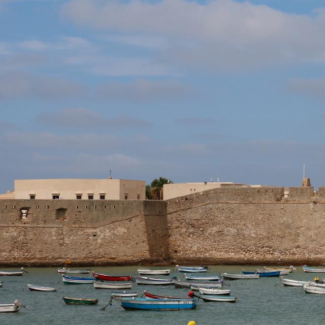 """Cadiz Fortress"" stock image"